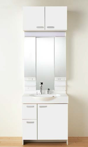 【LQBBL-070AYWN LPAM-073LHA スクエア取手】 《TKF》 ノーリツ 洗面化粧台 ソフィニア 間口750タイプ 洗面化粧台+3面鏡 ωμ1