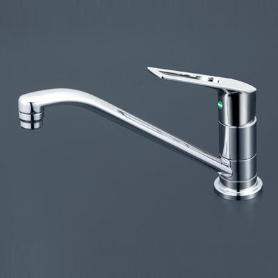 【KM5011ZUTEC】 《TKF》 KVK 取付穴兼用型・流し台用シングルレバー式混合栓(eレバー) ωζ0