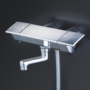 【KF3050WGN】 《TKF》 KVK サーモスタット式シャワー・スカートソケットタイプ(80mmパイプ付)(寒冷地用) ωζ0