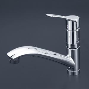 【KM5031ZTTN】 《TKF》 KVK 流し台用シングルレバー式シャワー付混合栓 ωζ0