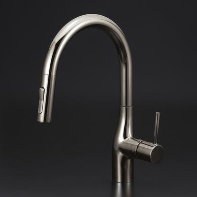 【KM6061ZECBN】 《TKF》 KVK グースネックシングルレバー式シャワー付混合栓(eレバー)黒ニッケル 吐水口回転規制160°(寒冷地用) ωζ0