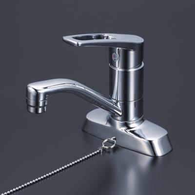 【KM7004ZTGS】 《TKF》 KVK 洗面用シングルレバー式混合栓 ゴム栓付(寒冷地用) ωζ0