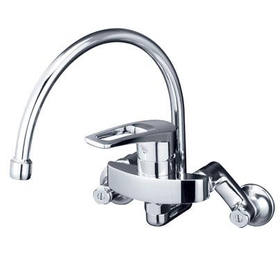 【KM5000TSS】 《TKF》 KVK 壁 シングルレバー混合水栓 シングルレバー式混合水栓/蛇口/カラン ωζ0