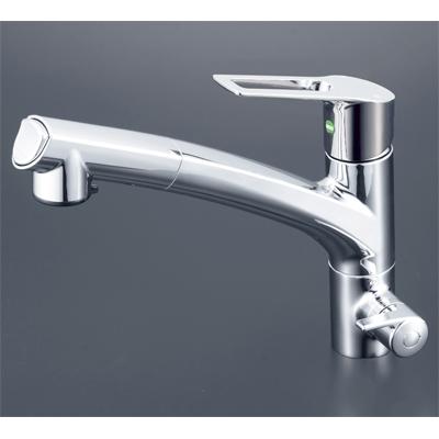 【KM5061NSCEC】 《TKF》 KVK 浄水器付シングルレバー式シャワー付混合栓(eレバー) ωζ0