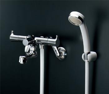 【139-020】 《TKF》 カクダイ 2ハンドルシャワー混合栓(一時止水) ωσ0