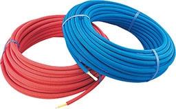 【672-118-50B】 《TKF》 カクダイ 保温材つき架橋ポリエチレン管(青) 20A ωσ0