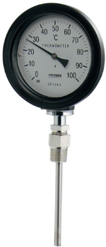 【649-913-100B】 《TKF》 カクダイ バイメタル製温度計(防水・ストレート型) ωσ0