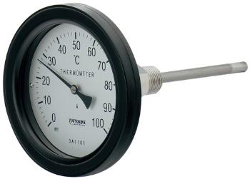 【649-915-50B】 《TKF》 カクダイ バイメタル製温度計(防水・アングル型) ωσ0