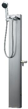 【624-104】 《TKF》 カクダイ ステンレスシャワー混合栓柱//ヘアライン仕上げ ωσ0