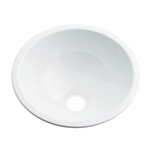 プレゼント 493-026-W 《TKF》 日本未発売 カクダイ ωσ0 丸型手洗器