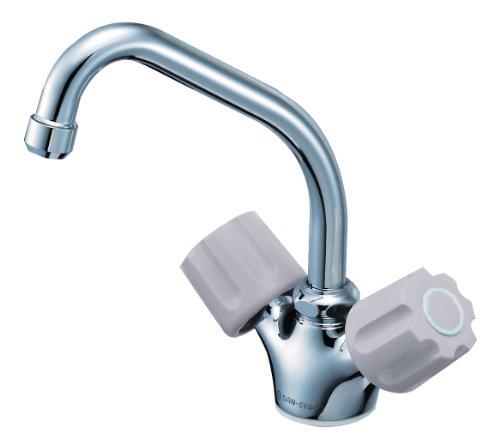【K811V-LH-13-23】 《TKF》 三栄水栓 SANEI ツーバルブワンホール混合栓 ωθ0