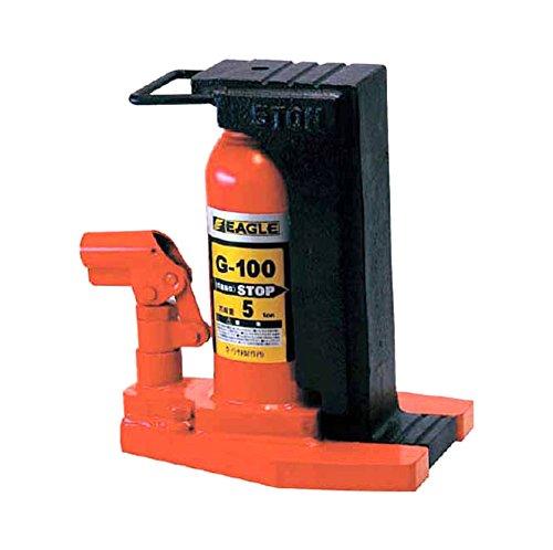 正規通販 【G-100】 ωο0:住宅設備機器 tkfront イーグル安全弁付レバー回転爪ツキジャッキ 《TKF》 今野製作所-DIY・工具