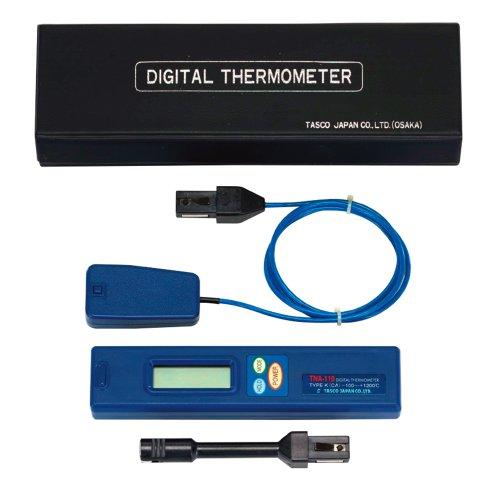 名作 《TKF》 イチネンTASCO 表面センサー付温度計セット 【TA410AB】 ωο0:住宅設備機器 tkfront-DIY・工具