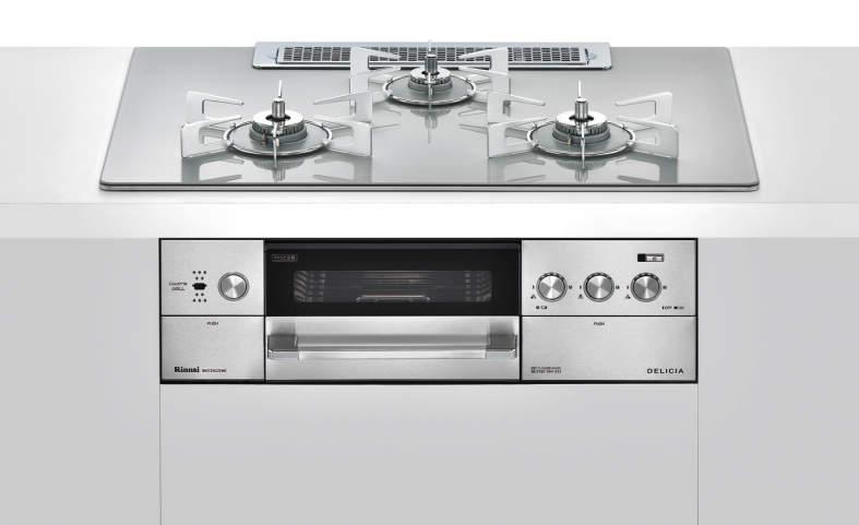 【RHS72W22E4RC-STW】 《TKF》 リンナイ デリシア ビルトイン ガスコンロ ガラストップ 75cmタイプ オーブン接続なし 3V乾電池タイプ ωα0