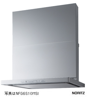 【NFG7S10MSTL】 《TKF》 ノーリツ レンジフード シロッコファン スリム型 ノンフィルター ステンレス コンロ連動タイプ ダクト位置 左用 75cmタイプ ωα0