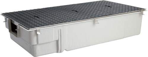 【GT-40SLX SUS蓋付】 《TKF》 マエザワ FRP製グリーストラップ 側溝流入浅型 GT-SL ωε1