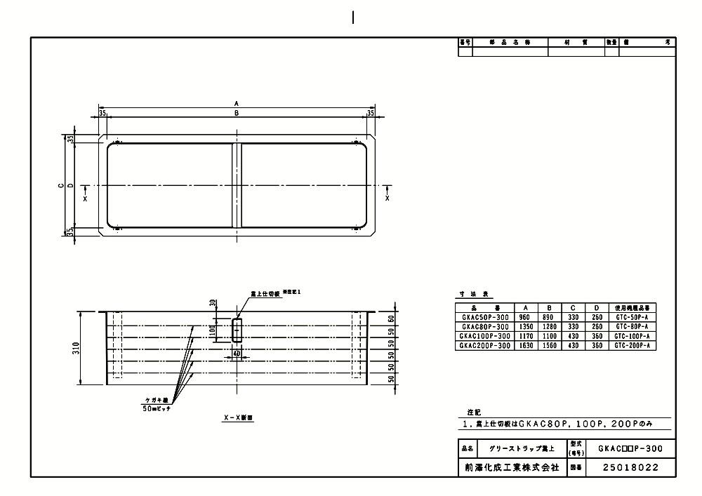 【GKAC50P-300】【GKAC50P-300】 《TKF》 マエザワ FRP製グリーストラップ用嵩上 ωε1 《TKF》 GKAC型 ωε1, モオカシ:29189d2b --- sunward.msk.ru