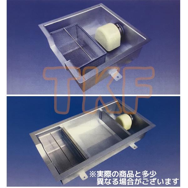 【SOSC-1050-25】 《TKF》 プレパイ工業 SUS製 浅型グリーストラップ 側溝流入シンダー内埋設型 ωλ1