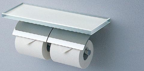 【YH63GWS】 《TKF》 TOTO トイレットペーパーホルダー 棚付二連紙巻器 ωγ0