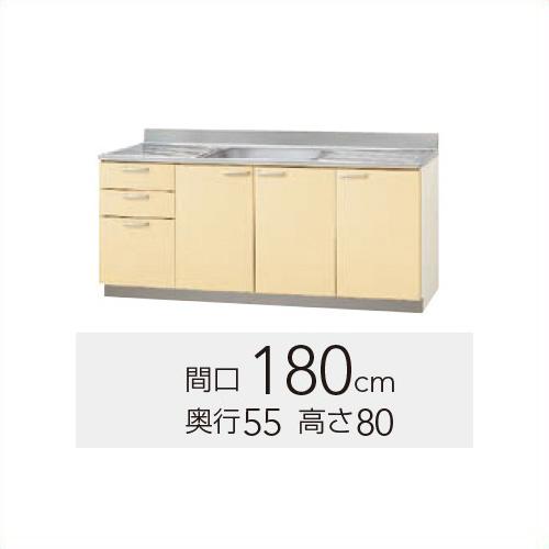 新版 《TKF》 180cm さくら 間口 【K9Y-180M(R/L)】 高さ 80cm クリナップ ωγ1:住宅設備機器 tkfront 流し台-木材・建築資材・設備