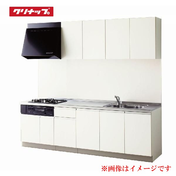 【ラクエラ コンフォートシリーズ】 《TKF》 クリナップ システムキッチン I型 間口225cm 開き扉 標準仕様 TUシンク ωγ1