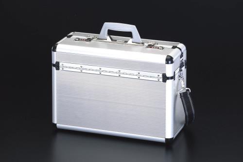 道具箱 通販 激安 買い物 腰袋、収納ケース、ツールキャビネット、作業台、棚 アルミ製工具箱 エスコ 460x195x320mm ESCO EA502TA アルミケース