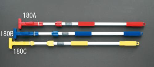【清掃用品】【床用】 エスコ (ESCO) 1110-1800mm 伸縮モップハンドル[赤] EA928AB-180A