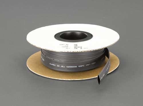 配線部材、配線器具、工業用電気部品 熱収縮 絶縁チューブ、グロメット 10%OFF スーパーSALE対象商品 エスコ 訳あり商品 ESCO 6.0mmx 熱収縮チューブ 黒 EA944BG-6 10m