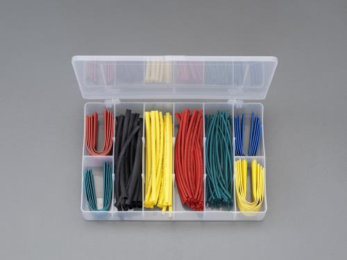 オリジナル 配線部材、配線器具、工業用電気部品 熱収縮 絶縁チューブ、グロメット スーパーSALE対象商品 エスコ EA944BH-12 125ピース カラフル ESCO 数量限定 熱収縮チューブセット