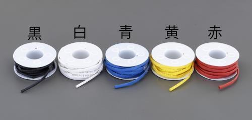 配線部材、配線器具、工業用電気部品 熱収縮 早割クーポン 発売モデル 絶縁チューブ、グロメット スーパーSALE対象商品 エスコ ESCO EA944BH-142 熱収縮チューブ 5mm 5m 白 x