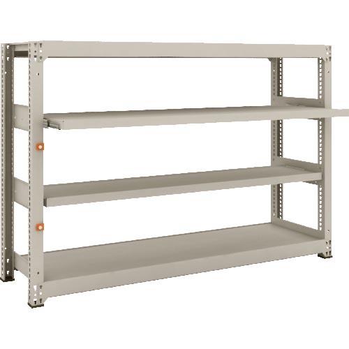 条件付送料無料 物流 保管用品 物品棚 中量棚 ランキングTOP5 定番スタイル TRUSCO M3型中量棚 1800X471XH1200 スライド2段 単体 M3-4652M2 株 M34652M2 トラスコ中山 2段