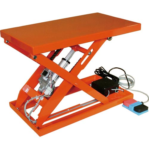 条件付送料無料 搬送機器 リフター ハンドパレットトラック 低廉 テーブルリフト TRUSCO テーブルリフト100kg トラスコ中山 返品交換不可 株 電動Bねじ式100V 400×720mm HDLL1047R12 HDL-L1047R-12