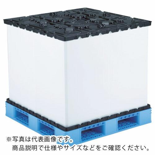 100%正規品 サンコー リターナブルパレットボックス スマートパックL1111-710H-7 ブルー/ブラック SKSM-L1111-710H-7-BLBK ( SKSML1111710H7BLBK ) 三甲(株), クメジマチョウ c44015b7