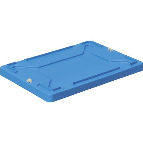 物流 保管用品 コンテナ パレット ボックス型コンテナ DIC F型コンテナ蓋 割り引き ロック付 海外 株 FFR B DICプラスチック 青 外寸:W423XD288XH36.5 容器資材営業部 F-FR