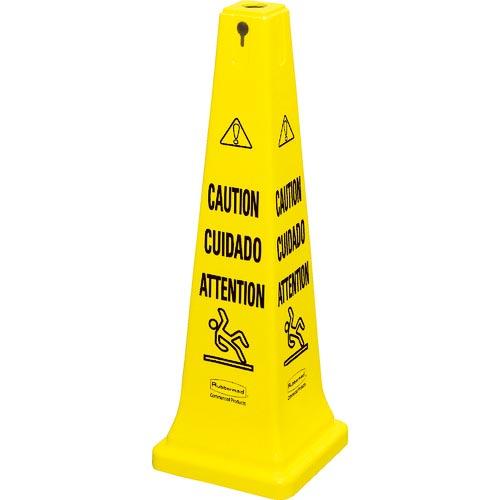 条件付送料無料 安全用品 標識 標示 標示スタンド ラバーメイド 新生活 3ヶ国語 627604 ご予約品 イエロー セーフティコーン ニューウェルブランズ ジャパン合同会社