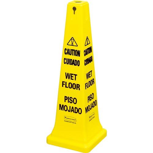 条件付送料無料 安全用品 通販 標識 標示 標示スタンド ラバーメイド ニューウェルブランズ セーフティコーン 2020A W新作送料無料 ジャパン合同会社 イエロー 2ヶ国語 62767704