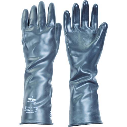条件付送料無料 ☆最安値に挑戦 保護具 作業手袋 大規模セール 耐薬品 耐溶剤手袋 UVEX BV06 6095768 プロファバイトン M UVEX社