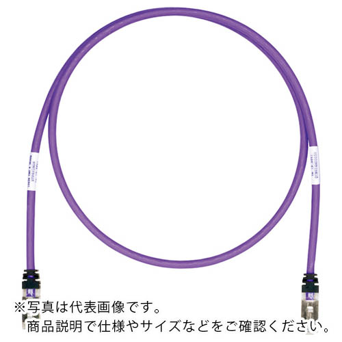 電子機器 電設配線部品 正規品 LANケーブル パンドウイット CAT6A CAT6 ストアー 紫 35m パンドウイットコーポレーション シールドパッチコード STP6X35MVL