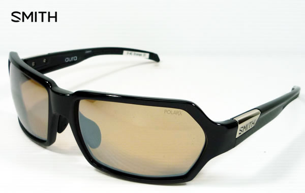 SMITH スミス アクションポーラ オーラ ACTION POLAR Aura 偏光サングラス フレーム:ブラック レンズ:X-AC-Orange31 シルバーミラー フィッシング・スポーツ