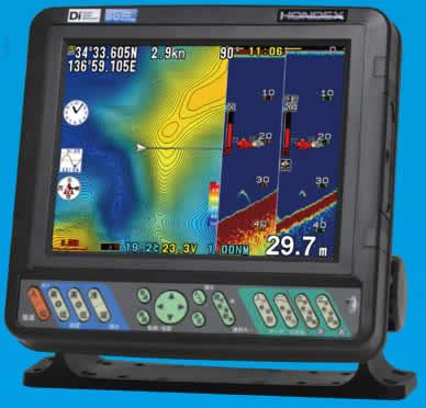 HE-8S ホンデックス 本多電子 GPS内蔵 8.4型液晶プロッターデジタル魚探 デプスマッピング