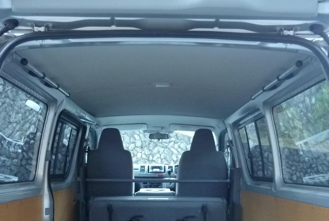 本州、四国送料無料 ハイエース200系 バンDX専用バーキット 1000mm 4型対応(カーメイト INNOロッドホルダーIF8用)