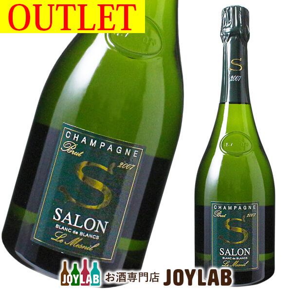 【アウトレット】サロン ブラン ド ブラン ブリュット 2007 750ml 箱なし SALON シャンパン シャンパーニュ 【中古】