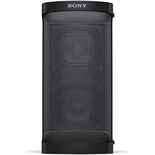 ソニー 重低音スピーカー SRS-XP500 2021年モデル 縦置き・横置きマルチレイアウト可能 防滴IPX4 バッテリー駆動 マイク端子・ギター端子搭載 ブラック