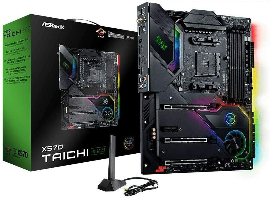 国内即発送 激しいバトルを楽しみたいゲームファン性能を追求するユーザー向けに特別に設計されています ASRock マザーボード X570 Taichi Razer Edition AMD 5000 AM4 Ryzen CPU Soket ATX シリーズ 卓出