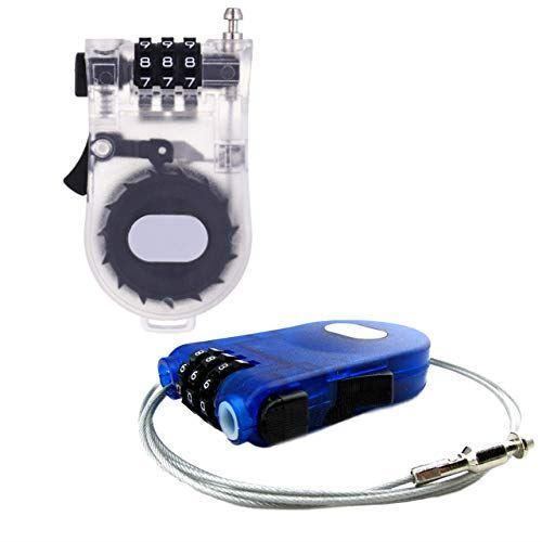 HAMILO 3桁ワイヤーロックセット 2個セット 国内在庫 小物バックやデイバックなどの置き引き防止にも活躍 今ダケ送料無料