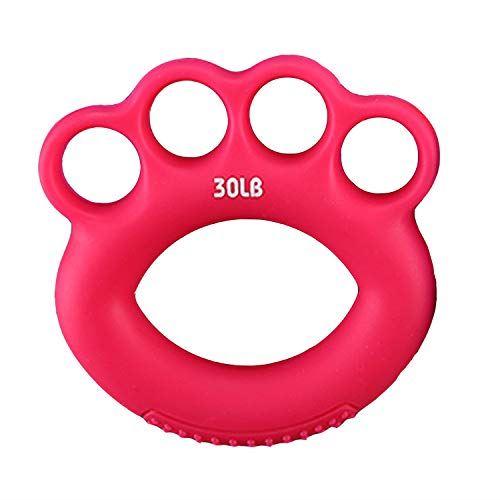 迅速な対応で商品をお届け致します Nade ハンドグリップ 握力トレーニング 指ストレッチャー 指エクササイズ 筋力トレ 指の強化 指 2020A W新作送料無料 ローズレッド 30lbs 男女兼用