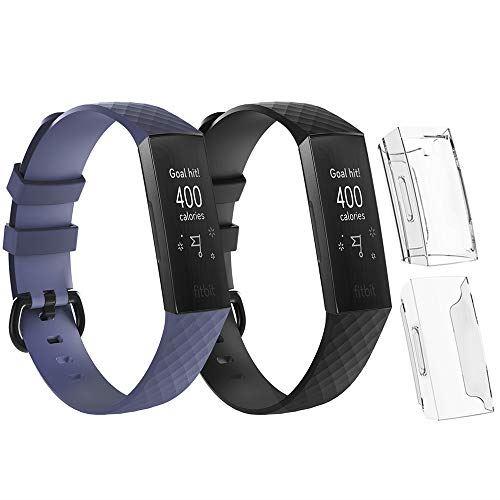 実物 Seafirst フィットビット チャージ適用バンド+保護カバー Lサイズ Fitbit charge3 SE CC1072-AJ 4点セット charge4 SE適用ステンレス 2020秋冬新作