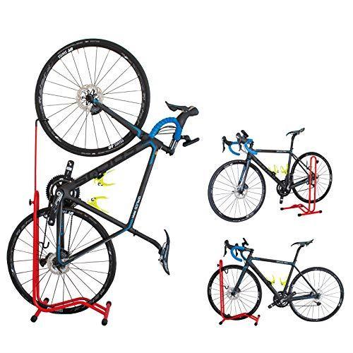 GORIX ゴリックス 自転車 スタンド 縦置き 横置き 掛置き 休み メンテナンス 簡易スタンド ステースタンド HS-013D 期間限定お試し価格 ホイール レッド 3タイプ
