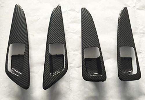 FUKUARE 三菱 エクリプスクロス 卸直営 GK系 インナードアノブカバー ブラック 内装 カーボン調 格安SALEスタート カスタム パーツ 2