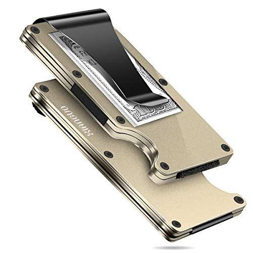 XIANGUO シャンゴー マネークリップ ゴールド 安心の定価販売 クレジットカードケース 磁気防止 新発売